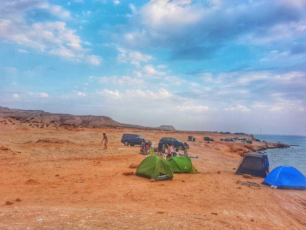Camping at Shuweihat Island