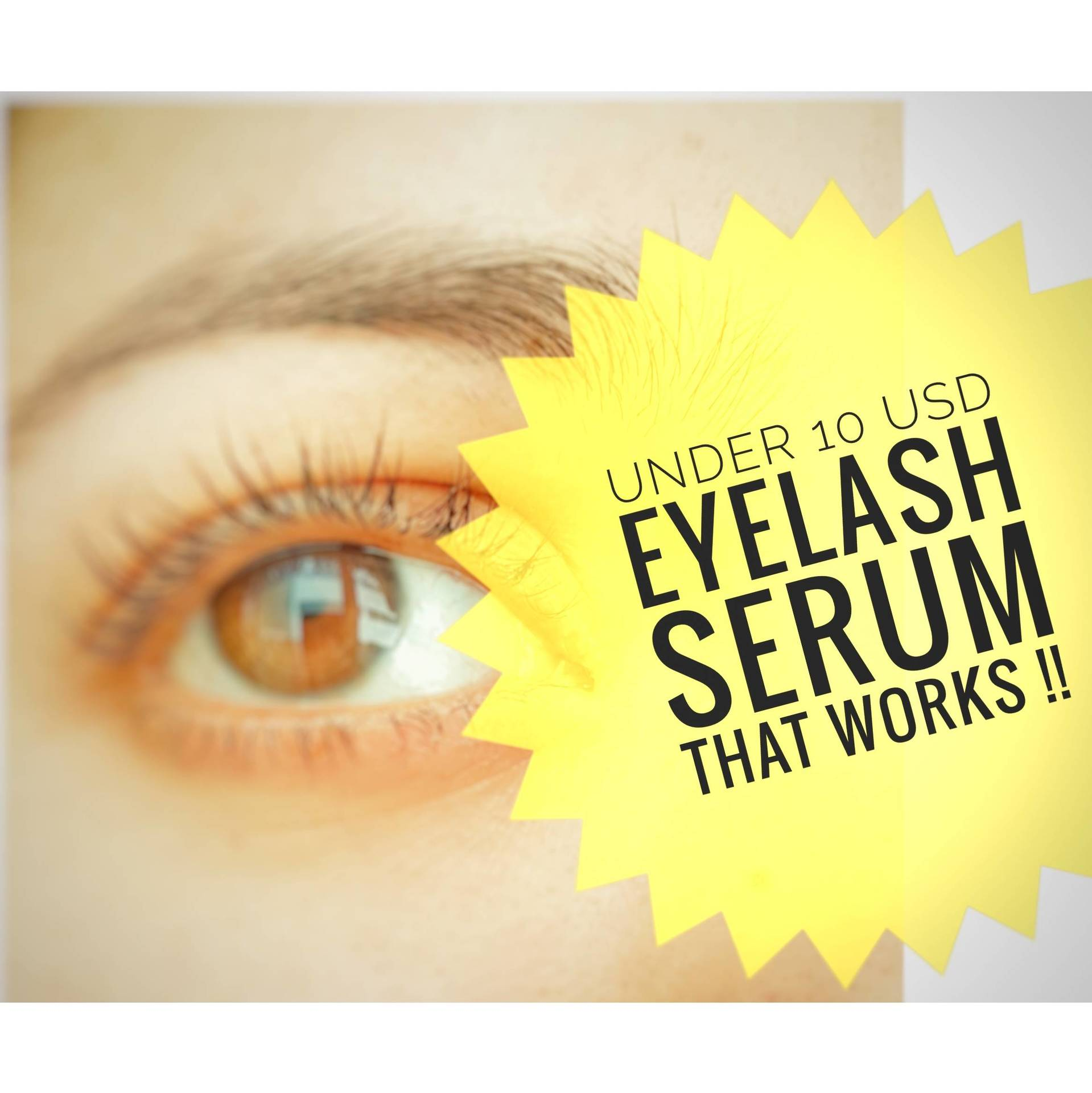 Eye Lash Serum at home