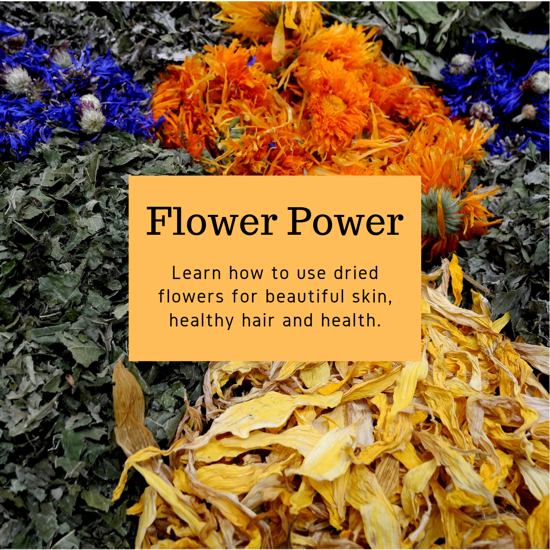 Learn how to use dried flowers for skin and hair.