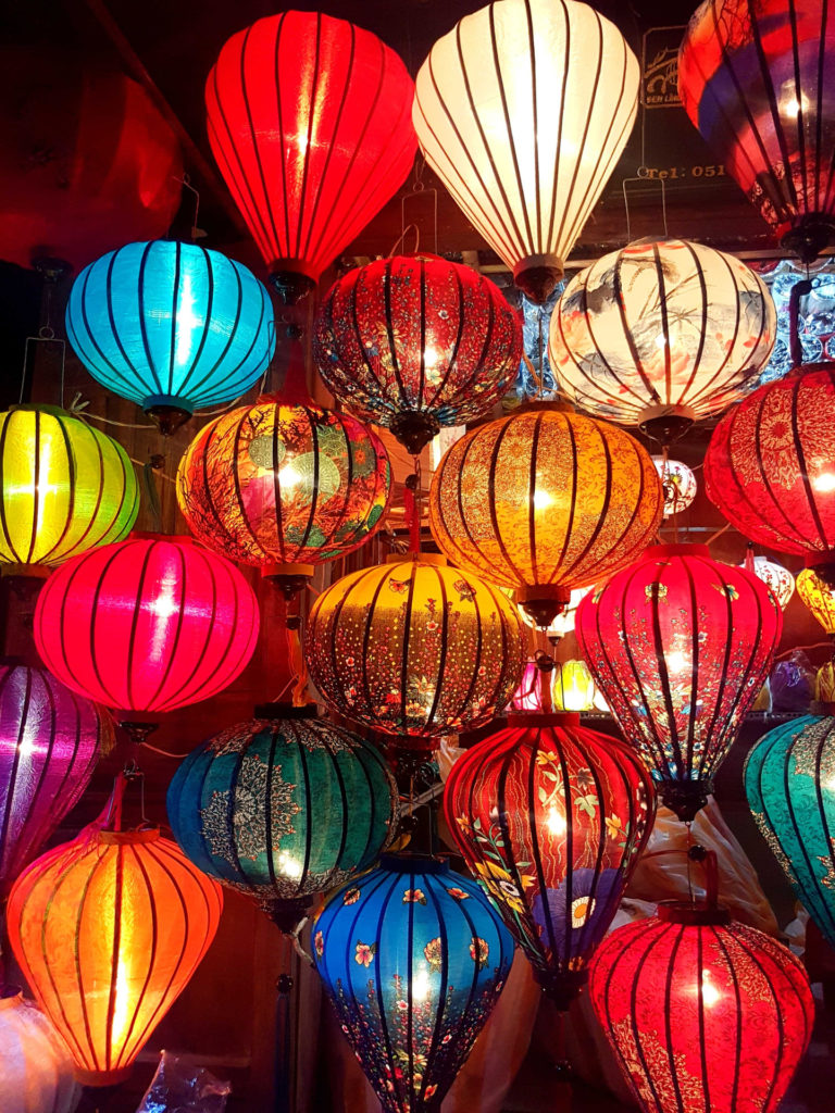 Hand made lamps in Hoi An